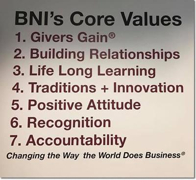 BNI West Texas Core Values